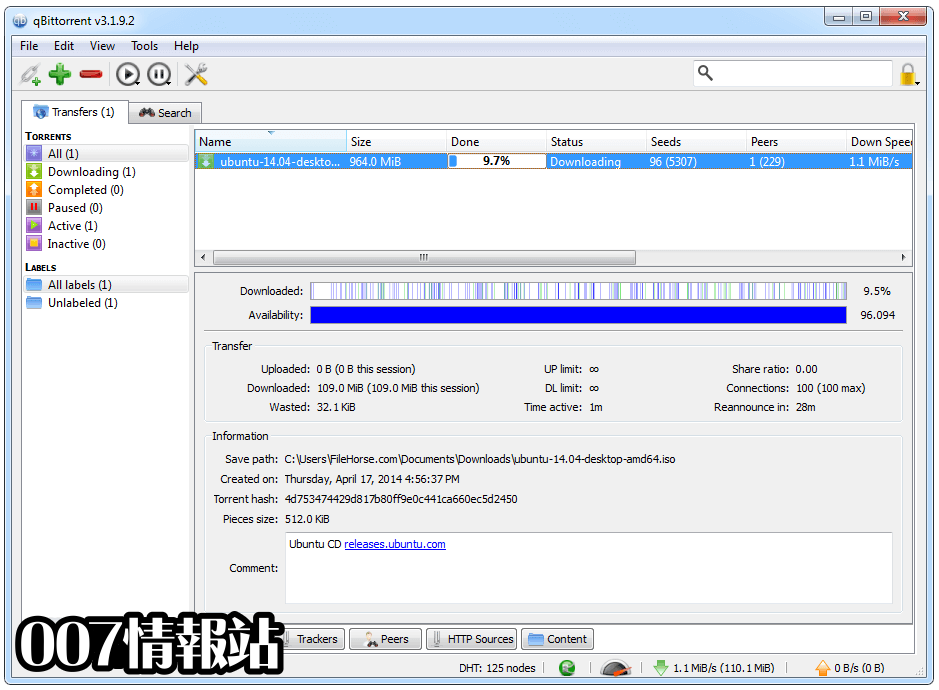 qBittorrent (32-bit) Screenshot 2