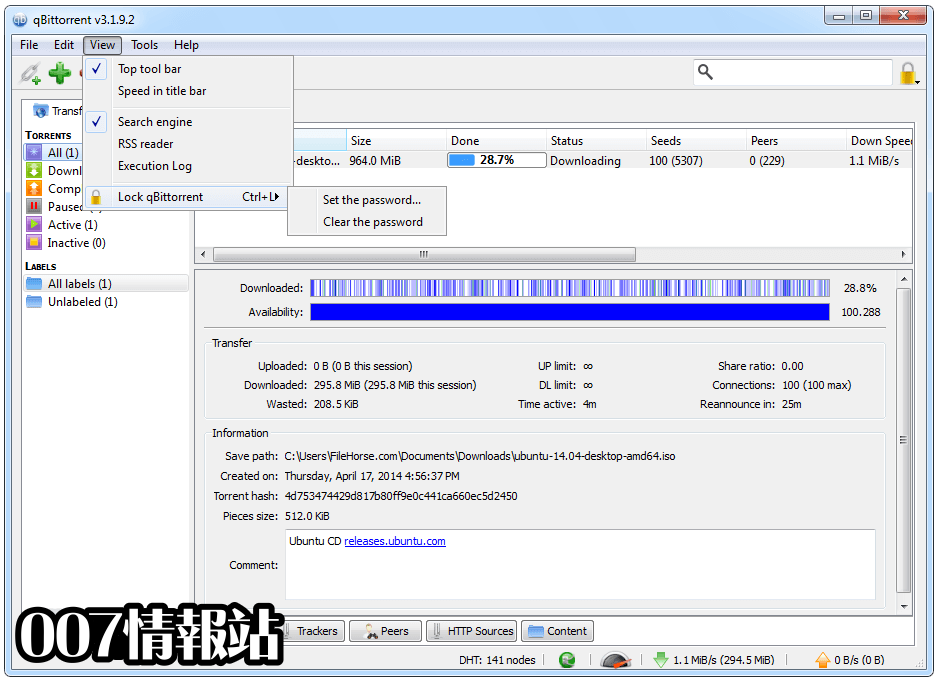 qBittorrent (32-bit) Screenshot 4