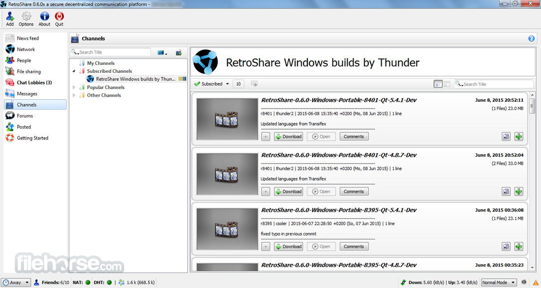 RetroShare Screenshot 2