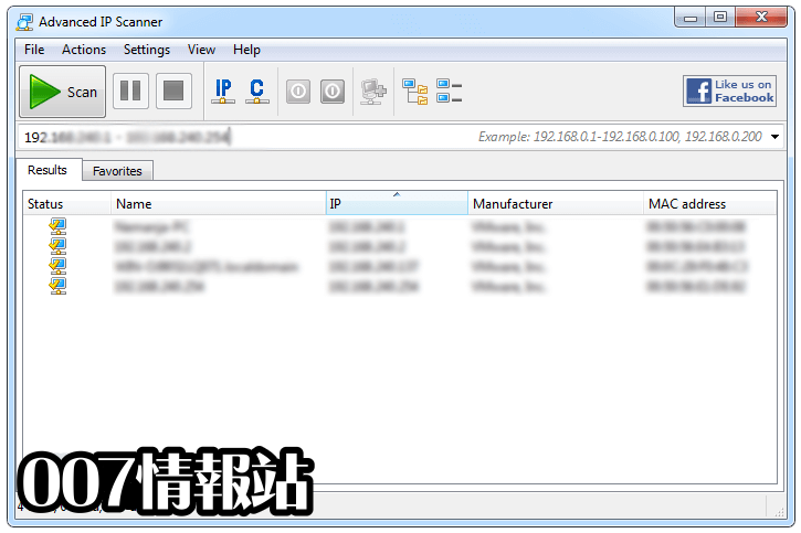 Advanced IP Scanner Screenshot 3