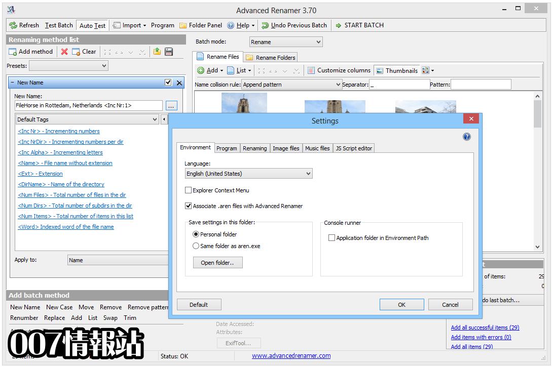 Advanced Renamer Screenshot 5