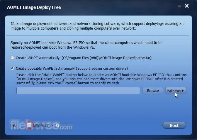 AOMEI Image Deploy Screenshot 1
