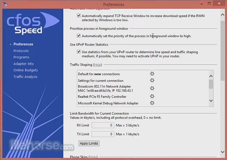 cFosSpeed Screenshot 3