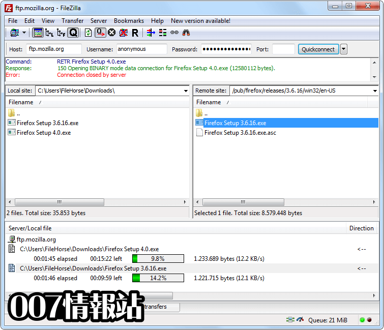 FileZilla (32-bit) Screenshot 1