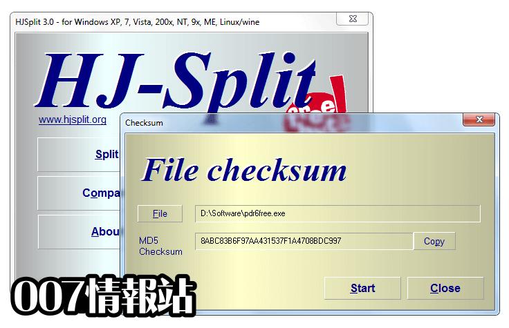 HJSplit Screenshot 5