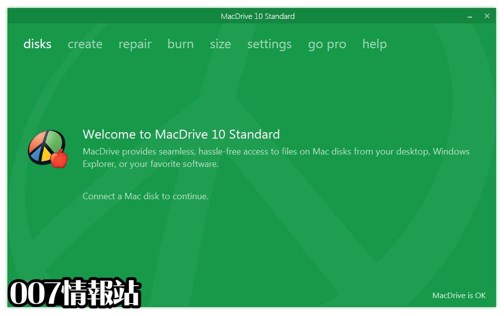 MacDrive Standard Screenshot 1