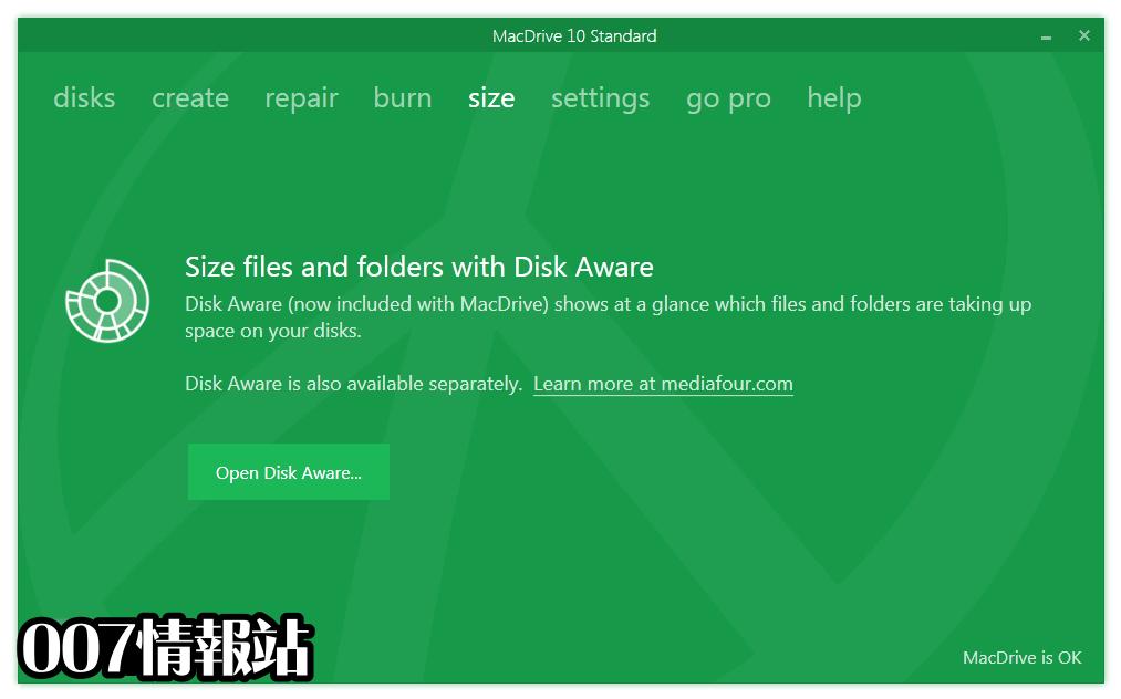 MacDrive Standard Screenshot 4