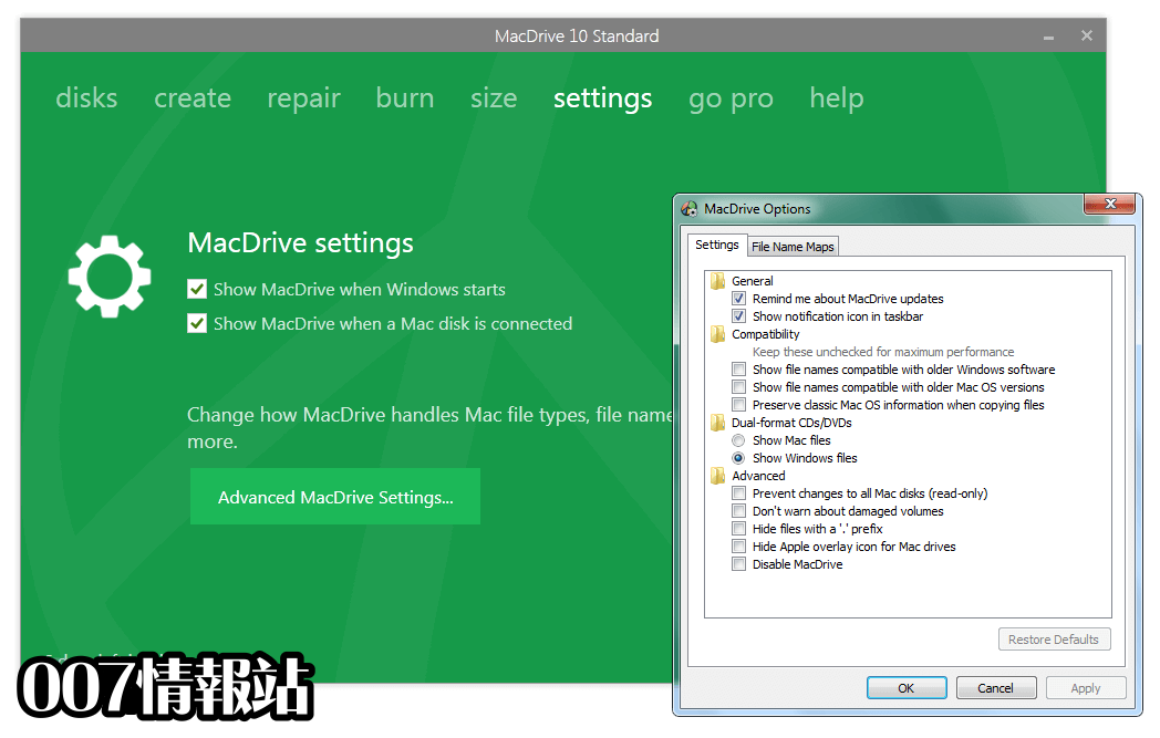MacDrive Standard Screenshot 5
