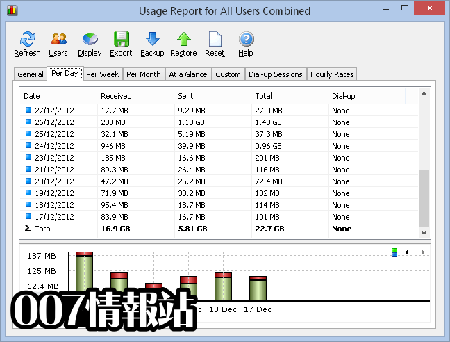 NetWorx Screenshot 2