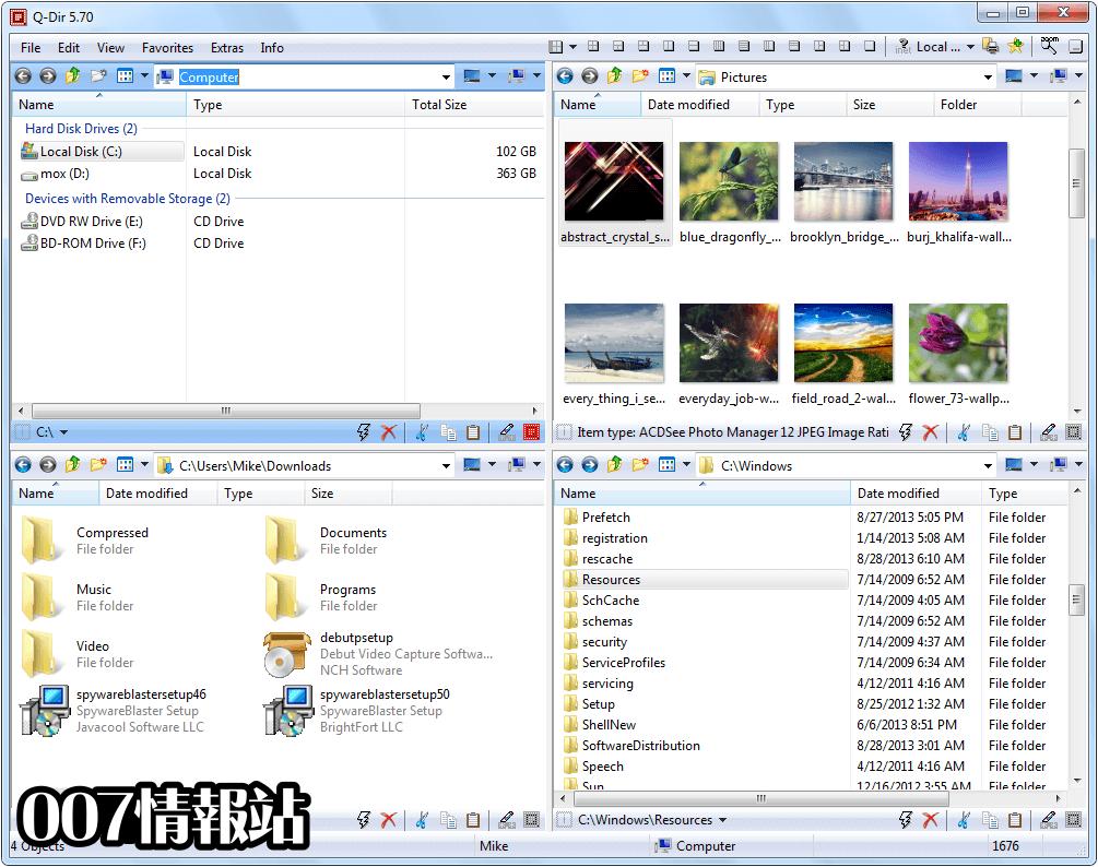 Q-Dir (64-bit) Screenshot 1