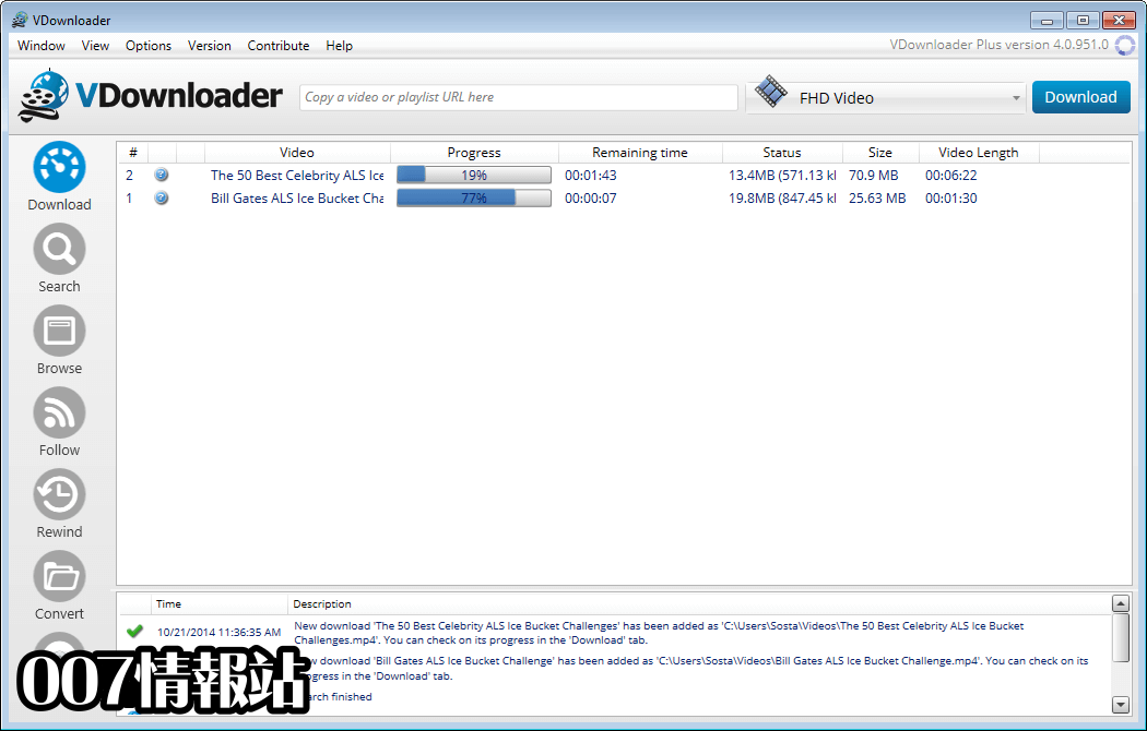 VDownloader Screenshot 1