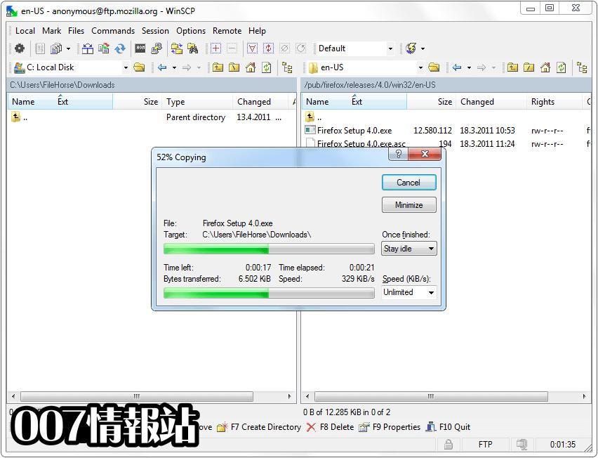 WinSCP Screenshot 3