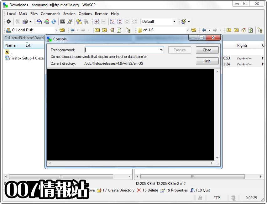 WinSCP Screenshot 4