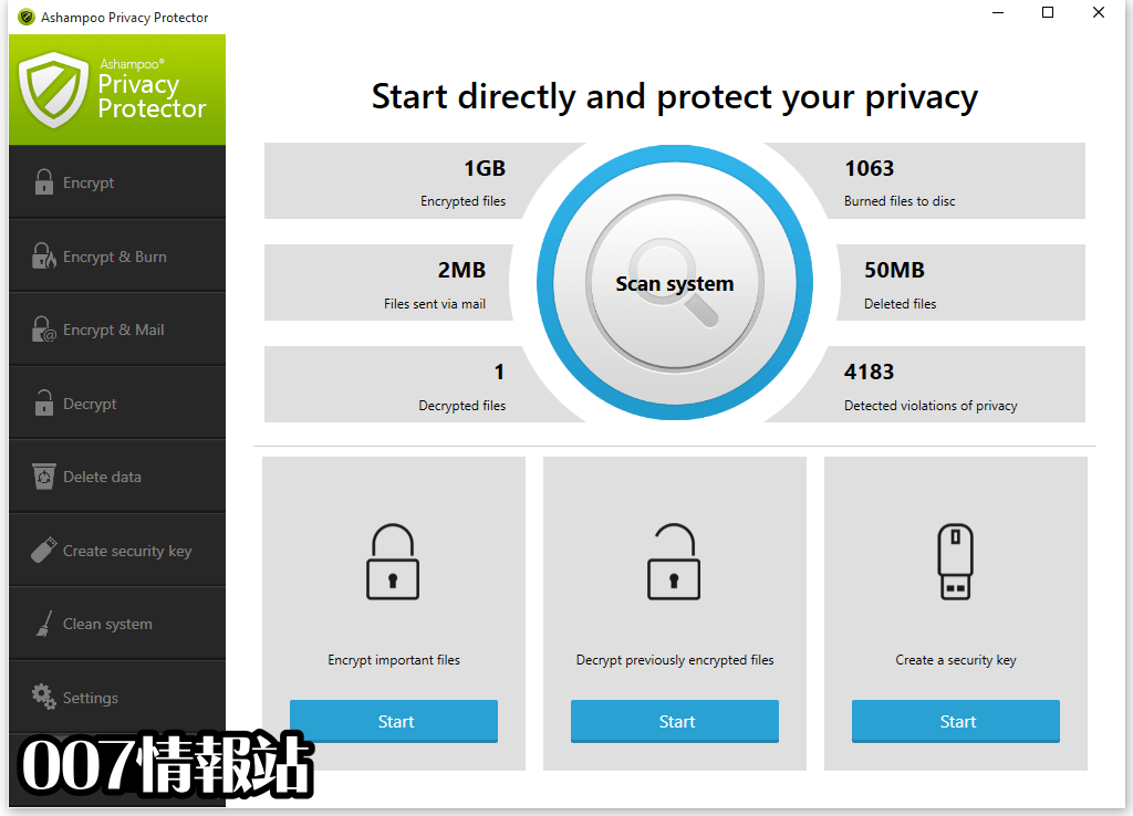 Ashampoo Privacy Protector Screenshot 1