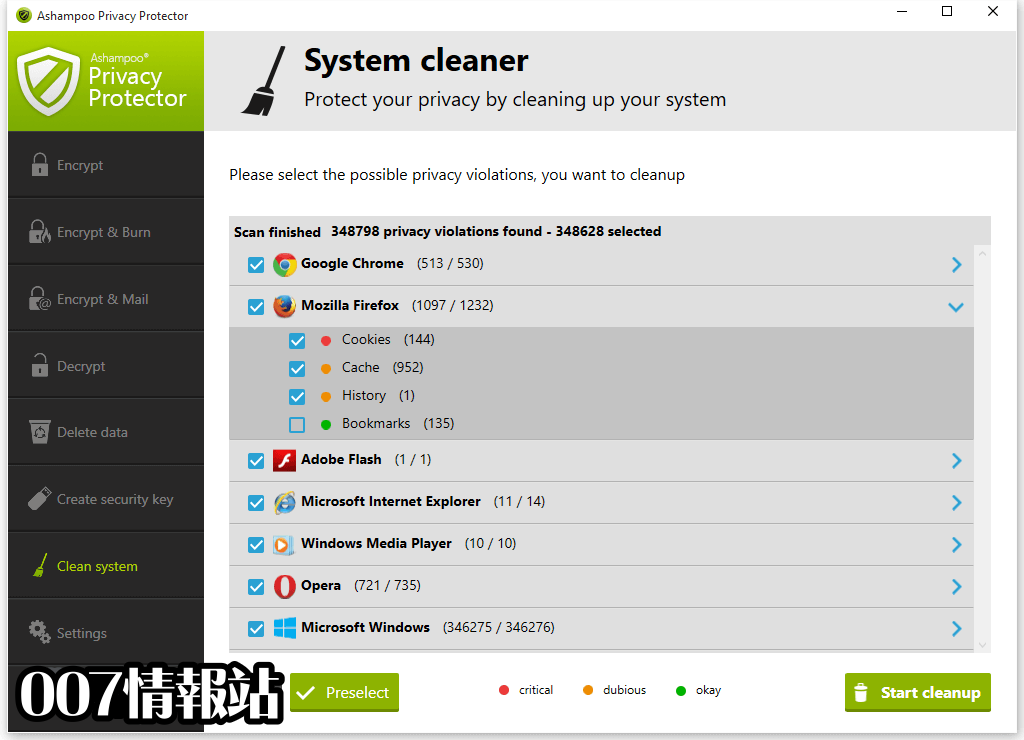 Ashampoo Privacy Protector Screenshot 5