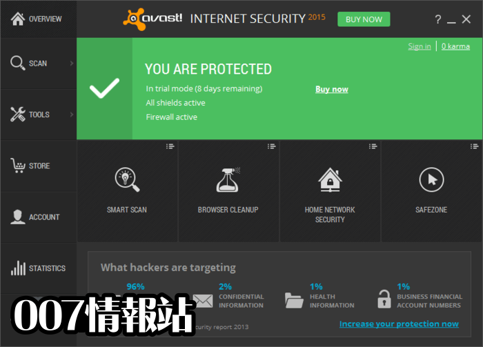 Avast Internet Security Screenshot 1