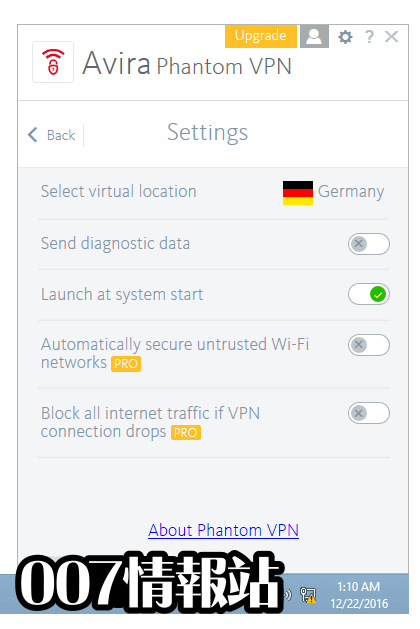 Avira Phantom VPN Screenshot 5