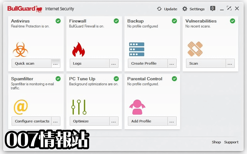 BullGuard Internet Security Screenshot 1