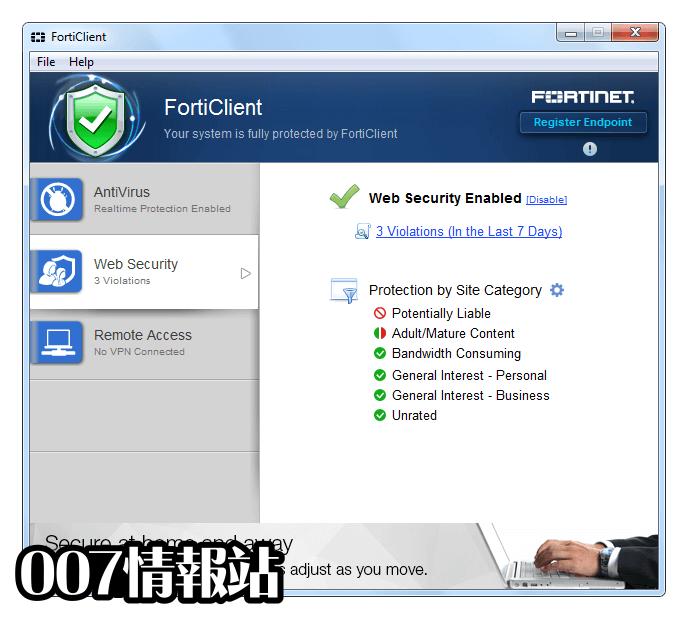 FortiClient Screenshot 3