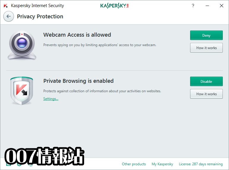 Kaspersky Internet Security Screenshot 3