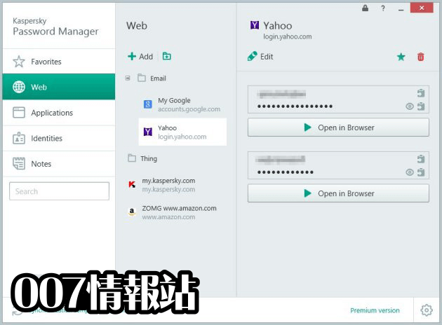 Kaspersky Password Manager Screenshot 3