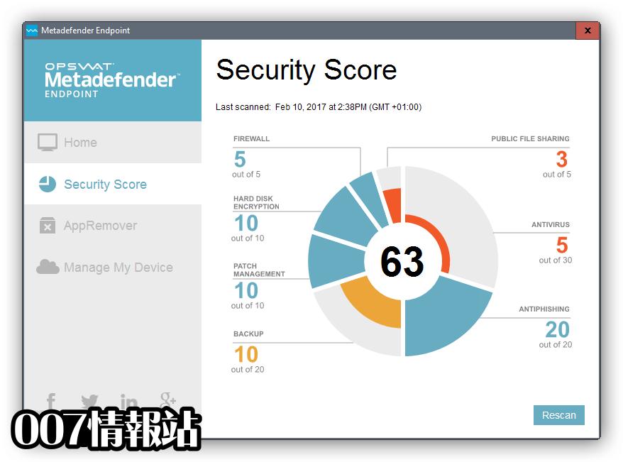 Metadefender Endpoint Screenshot 1