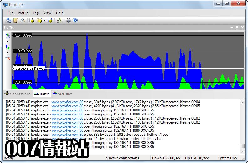 Proxifier Screenshot 1