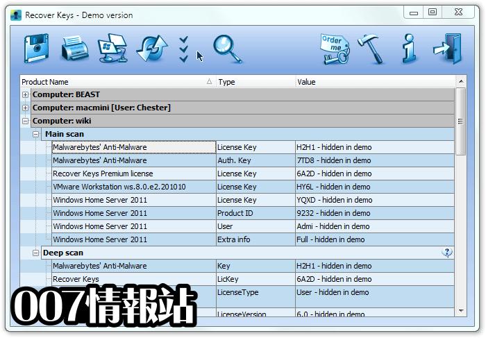Recover Keys (64-bit) Screenshot 2