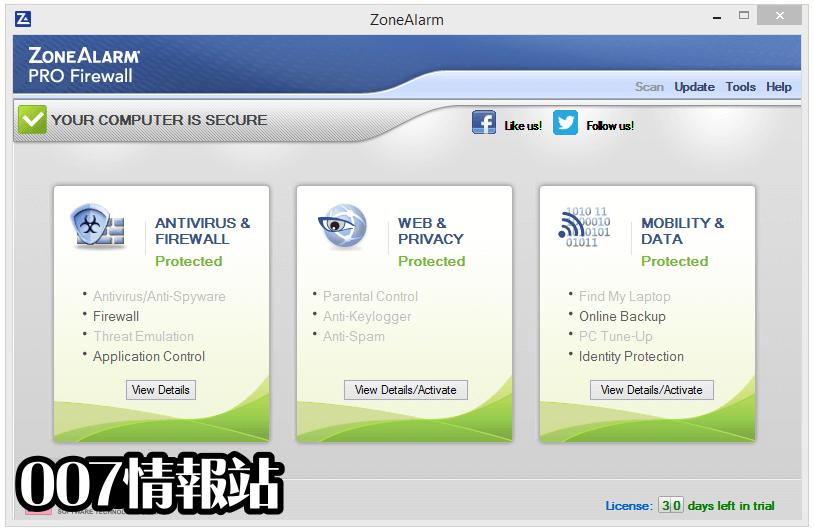 ZoneAlarm PRO Firewall Screenshot 1