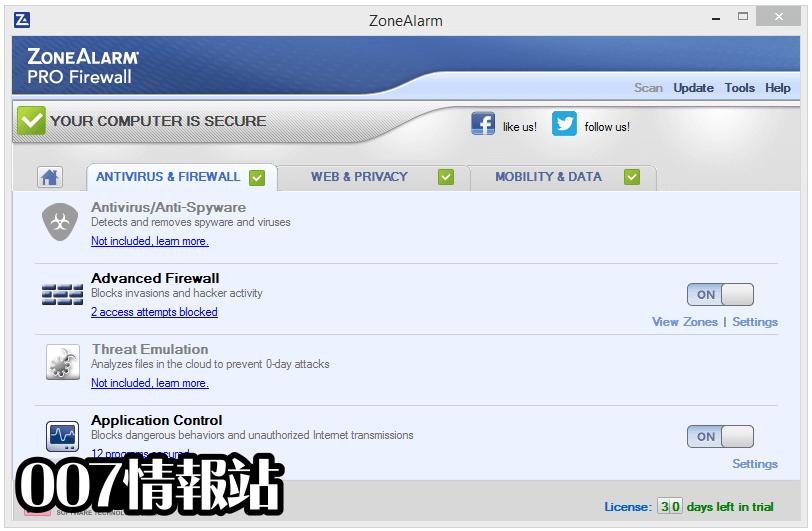 ZoneAlarm PRO Firewall Screenshot 2