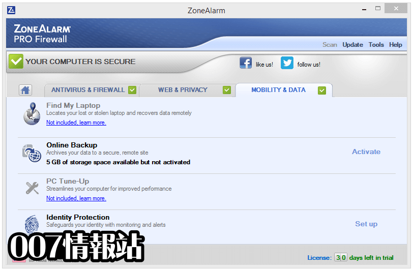 ZoneAlarm PRO Firewall Screenshot 4
