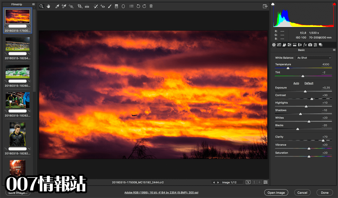 Adobe Camera Raw Screenshot 2