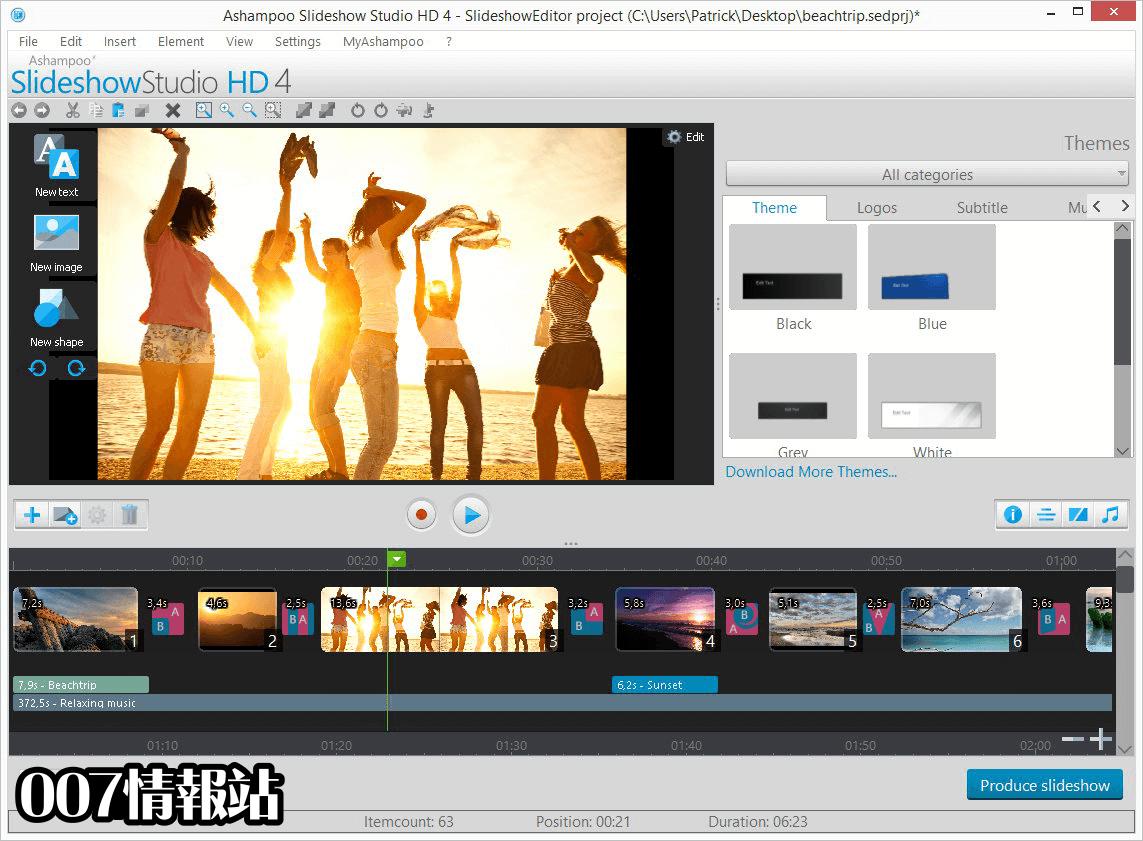 Ashampoo Slideshow Studio HD Screenshot 1