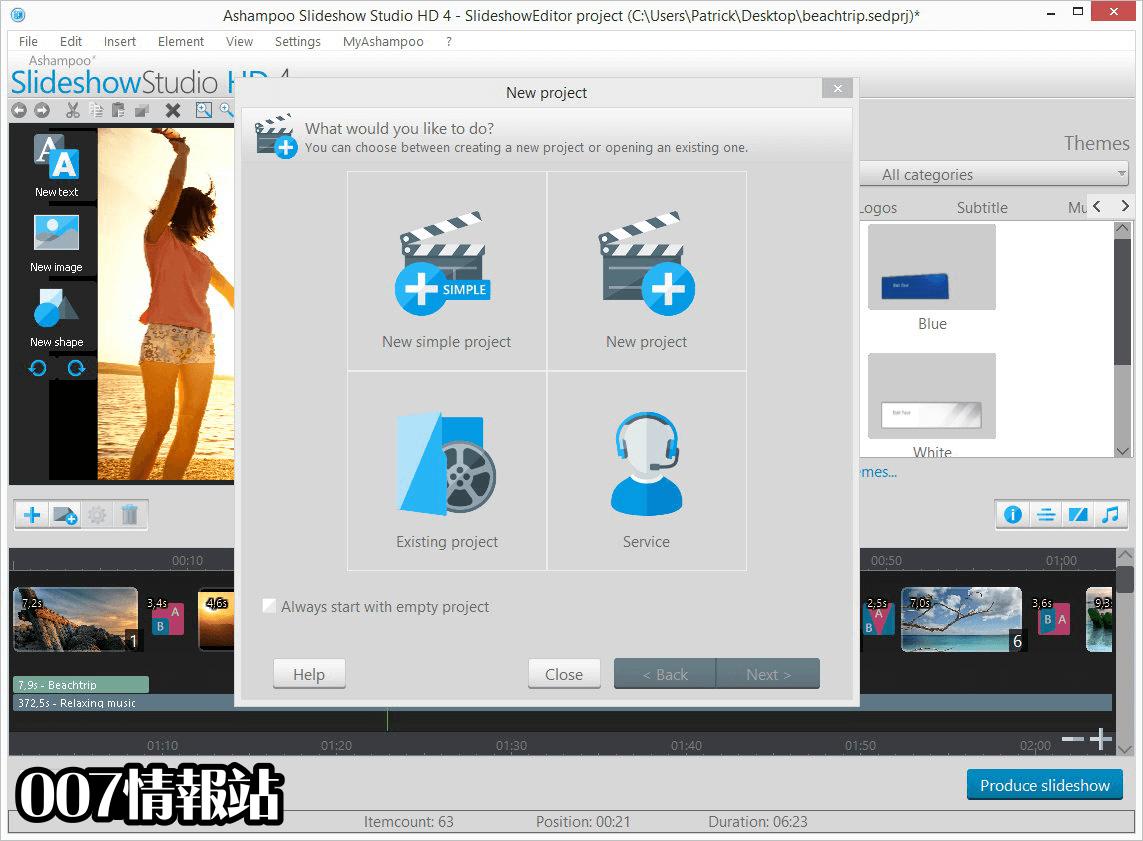 Ashampoo Slideshow Studio HD Screenshot 2