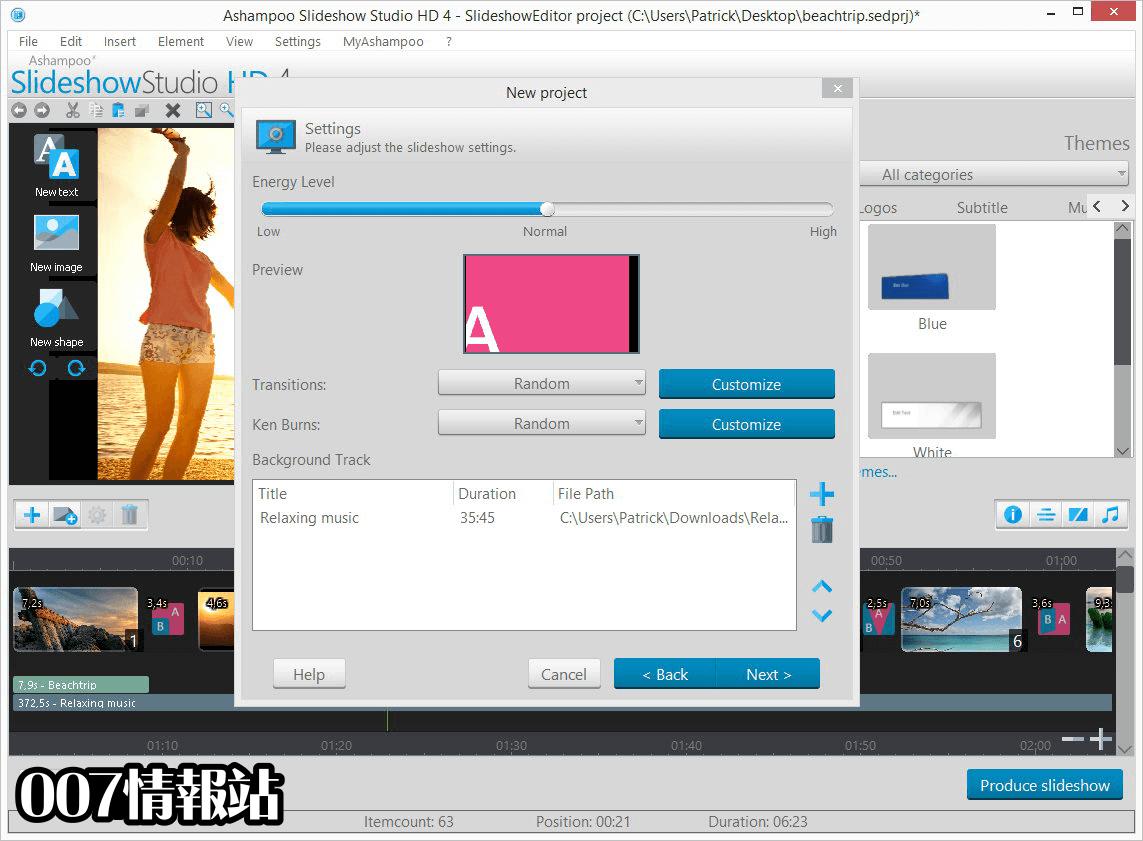 Ashampoo Slideshow Studio HD Screenshot 3
