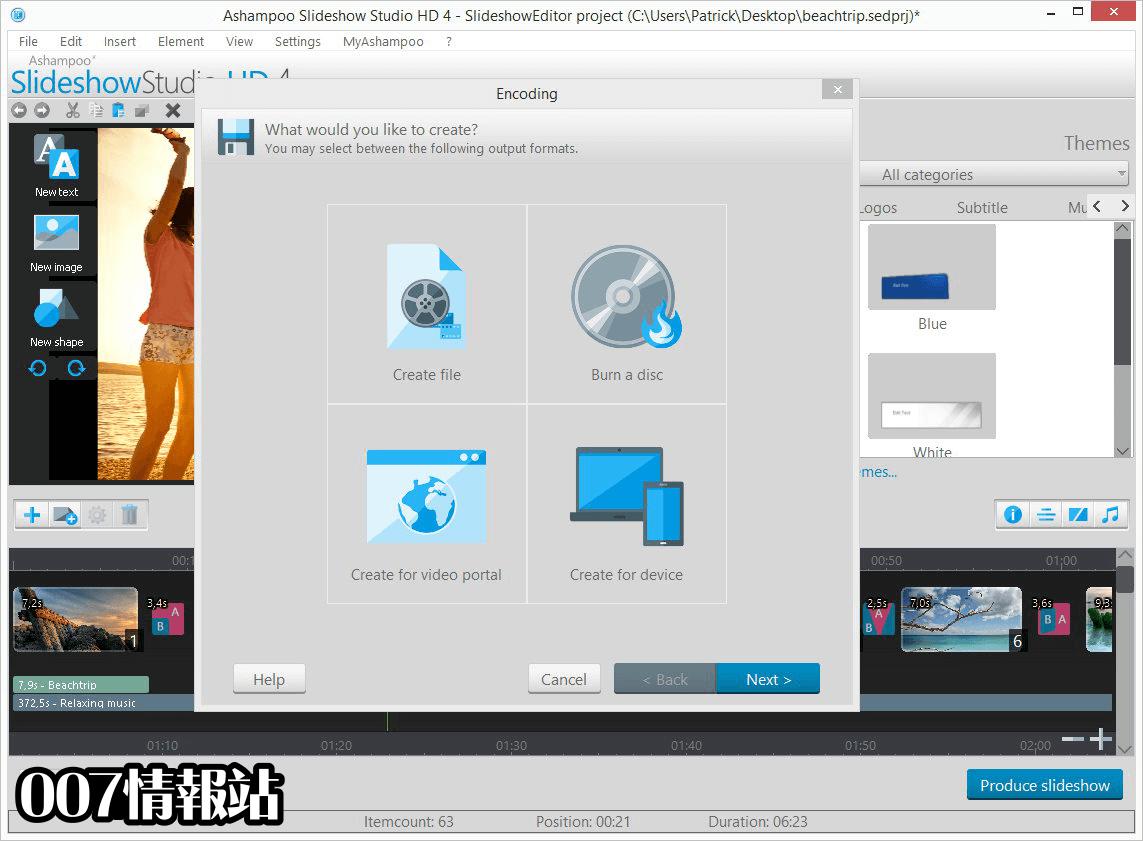 Ashampoo Slideshow Studio HD Screenshot 4