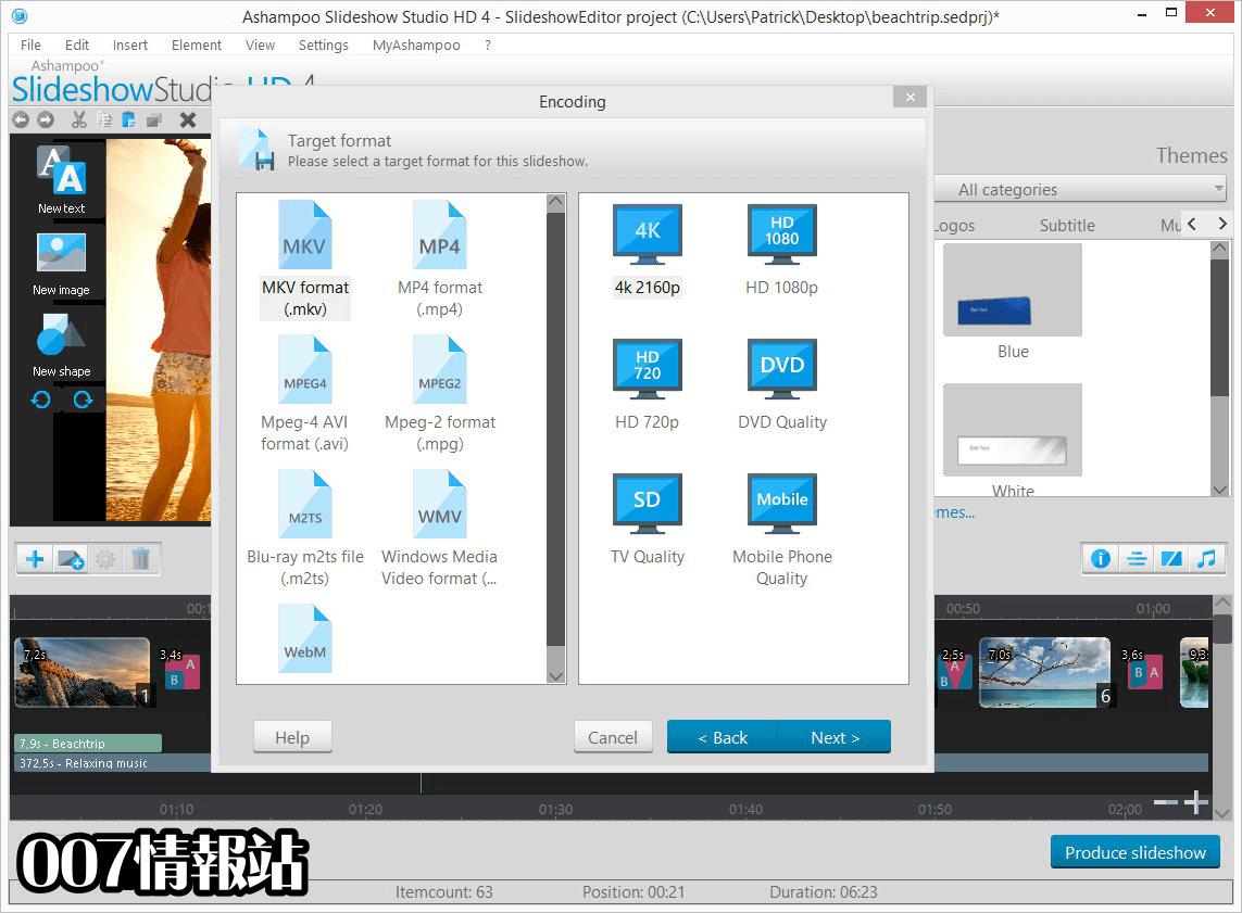 Ashampoo Slideshow Studio HD Screenshot 5