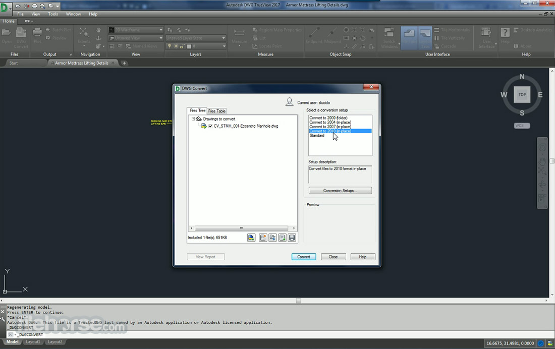 Autodesk DWG Trueview (32-bit) Screenshot 2