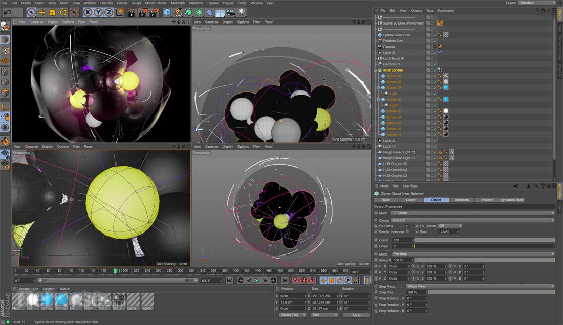 CINEMA 4D Screenshot 1