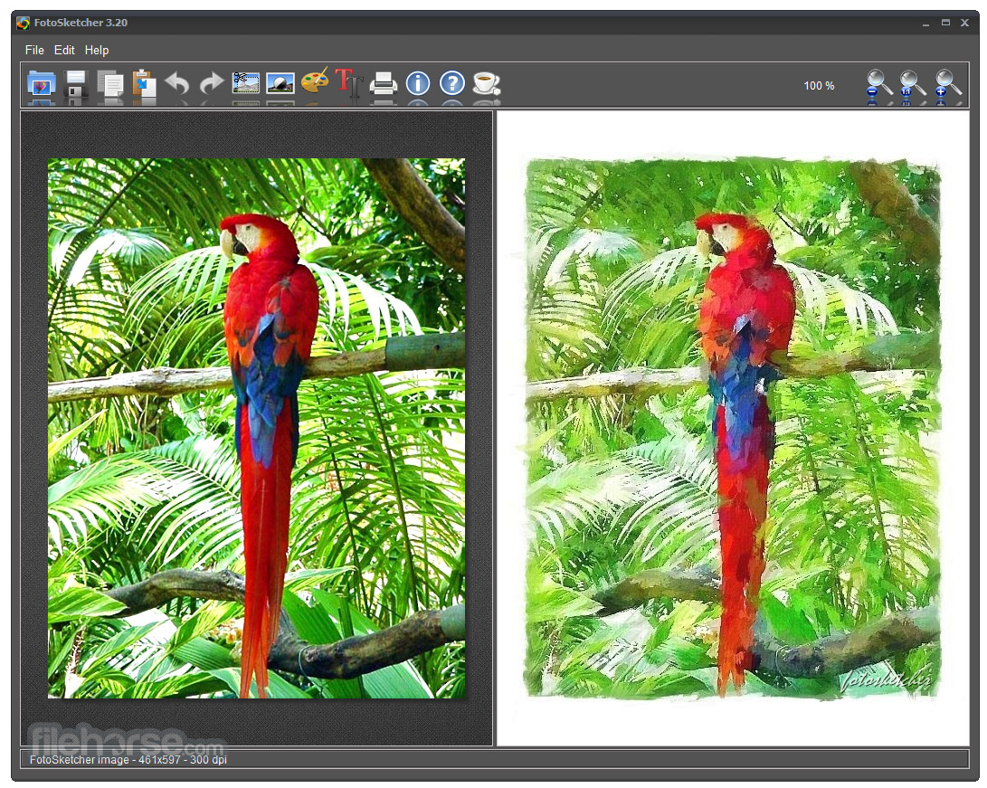 FotoSketcher (64-bit) Screenshot 1
