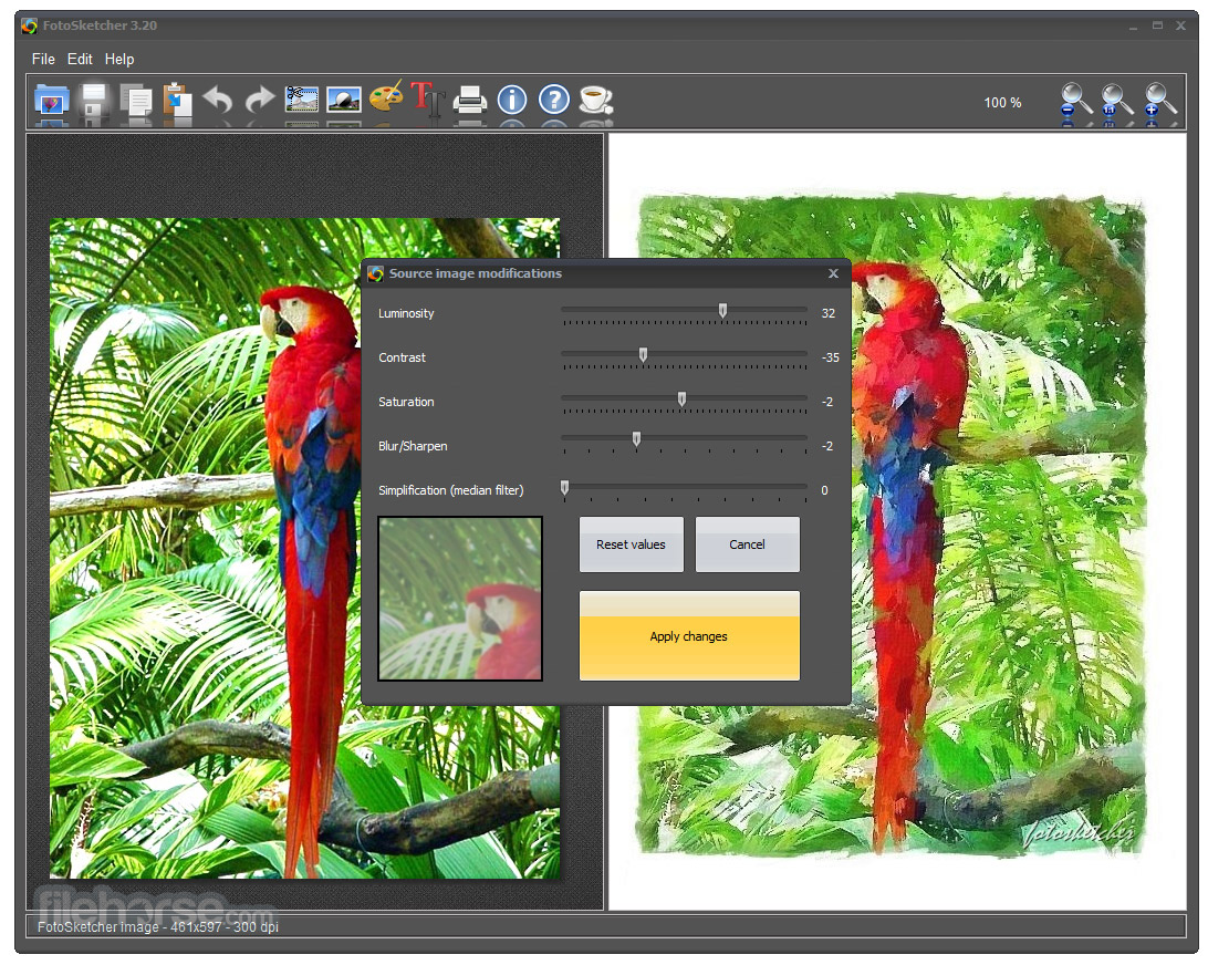 FotoSketcher (64-bit) Screenshot 2