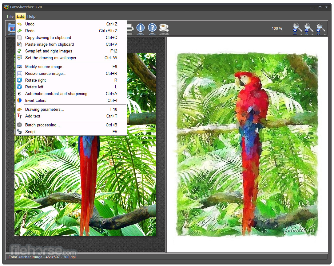 FotoSketcher (64-bit) Screenshot 3