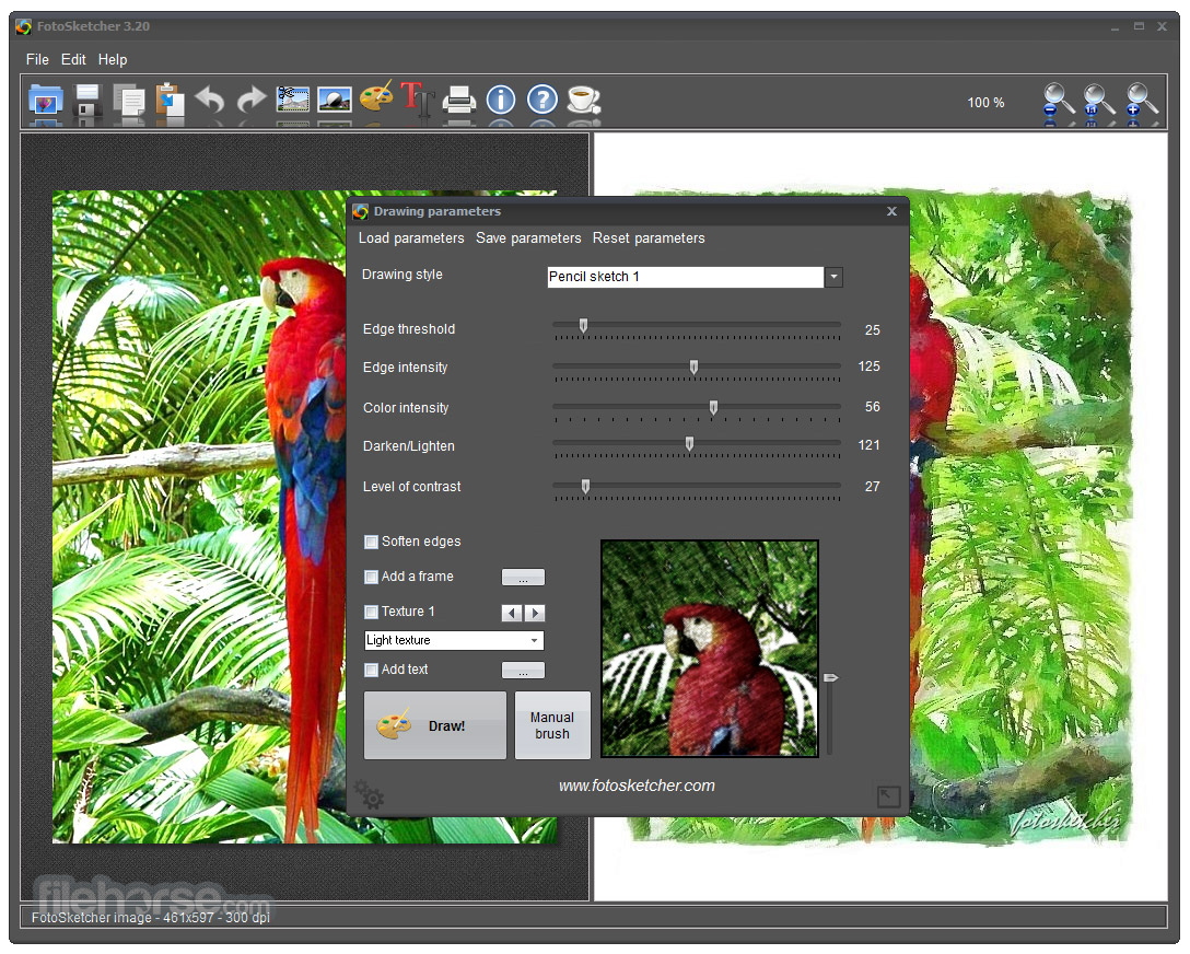 FotoSketcher (64-bit) Screenshot 4