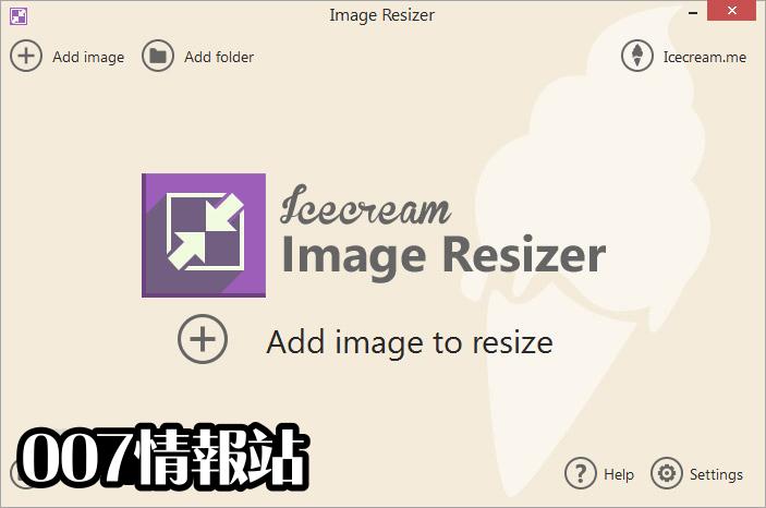IceCream Image Resizer Screenshot 1