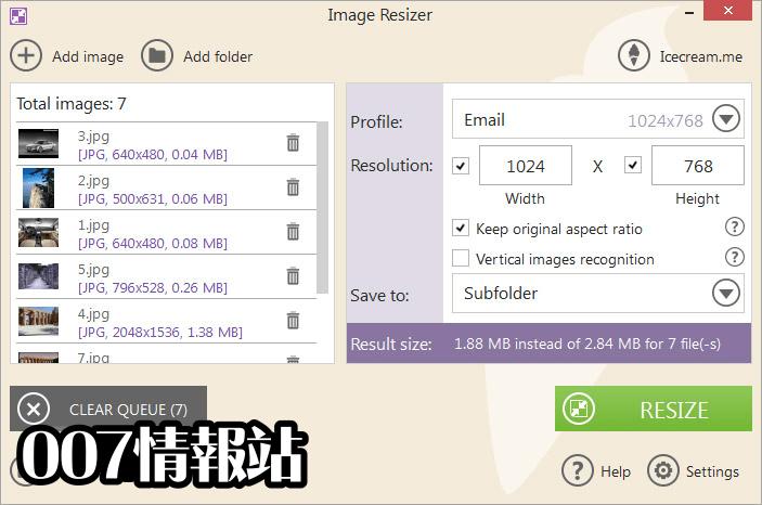 IceCream Image Resizer Screenshot 2