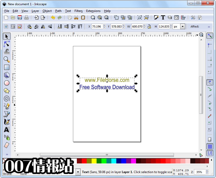 Inkscape (32-bit) Screenshot 1