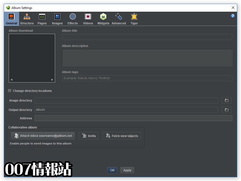 jAlbum (64-bit) Screenshot 3