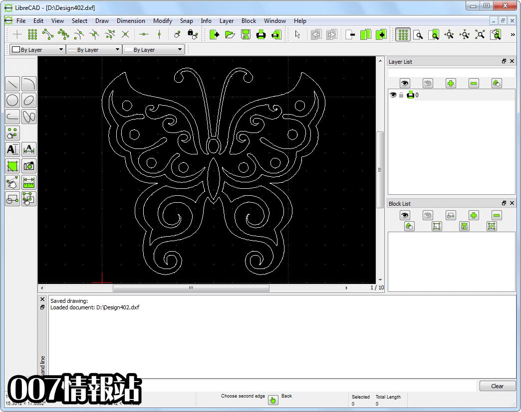 LibreCAD Screenshot 1