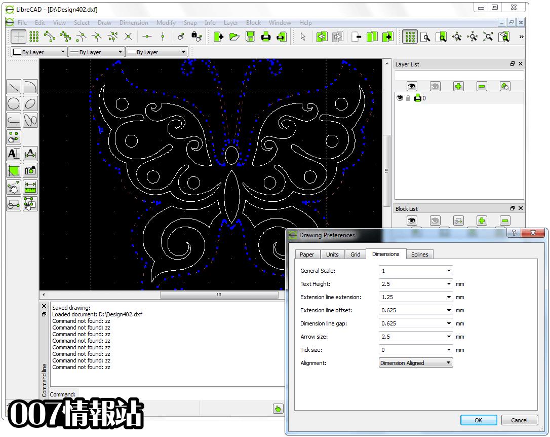 LibreCAD Screenshot 3