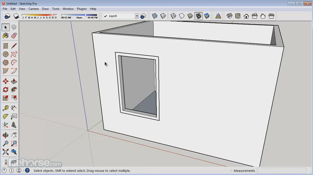 SketchUp Make (32-bit) Screenshot 1
